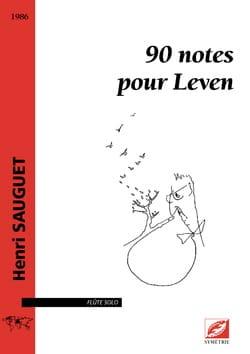 90 Notes pour Leven - Flûte seule Henri Sauguet Partition laflutedepan