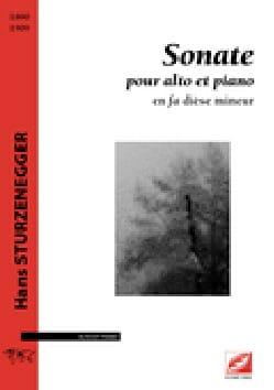 Sonate - alto et piano - Hans Sturzenegger - laflutedepan.com