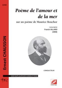 Poème de l'amour et de la mer - Conducteur CHAUSSON laflutedepan
