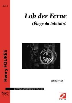 Henry Fourès - Lob der Ferne - Partition - di-arezzo.fr