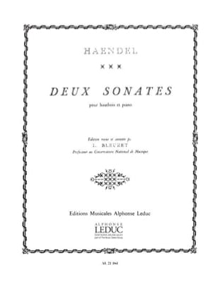 2 Sonates - Hautbois HAENDEL Partition Hautbois - laflutedepan