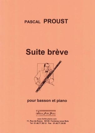 Suite brève - Pascal Proust - Partition - Basson - laflutedepan.com