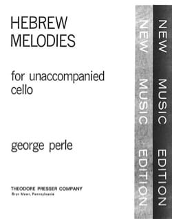 Hebrew melodies George Perle Partition Violoncelle - laflutedepan