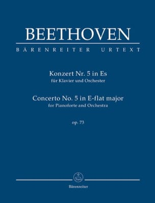 BEETHOVEN - Concerto pour piano n° 5, op. 73 - Conducteur - Partition - di-arezzo.fr