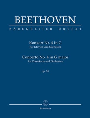 BEETHOVEN - Concerto pour piano n° 4, op. 58 - Conducteur - Partition - di-arezzo.fr