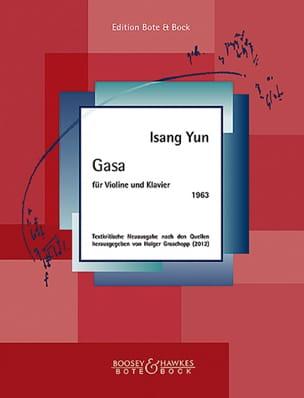 Isang Yun - Gasa - Violin and piano - Sheet Music - di-arezzo.co.uk