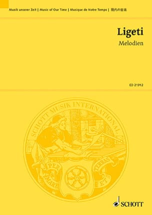 György Ligeti - Melodien - Conducteur - Partition - di-arezzo.fr