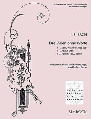 3 Arien ohne Worte - Alto et piano - BACH - laflutedepan.com