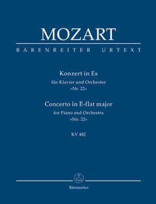 Wolfgang Amadeus Mozart - Klavierkonzert Nr. 22 Es-Dur KV 482 – Partitur - Partition - di-arezzo.fr