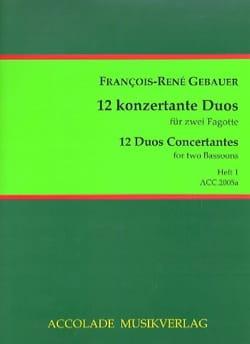 François-René Gebauer - Duos Concertants, op. 44 vols. 1 - 2 Bassoons - Sheet Music - di-arezzo.com