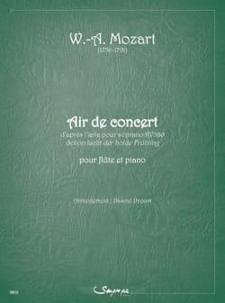 Wolfgang Amadeus Mozart - Air de concert - Flûte et piano - Partition - di-arezzo.fr