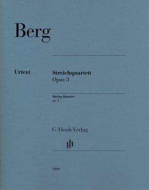 Quatuor à cordes, op. 3 - Parties séparées BERG Partition laflutedepan