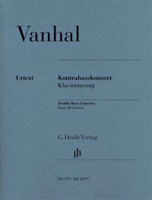 Johann Baptist Vanhal - Concerto for Double Bass - Double Bass and Piano - Sheet Music - di-arezzo.com