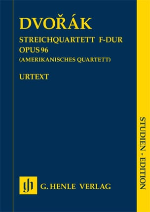 DVORAK - String quartet, op. 96 American - Driver - Partition - di-arezzo.co.uk