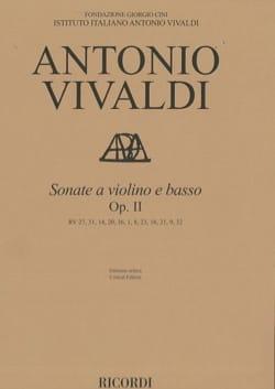 Antonio Vivaldi - Sonates, opus 2 - Violon et Basse - Partition - di-arezzo.fr