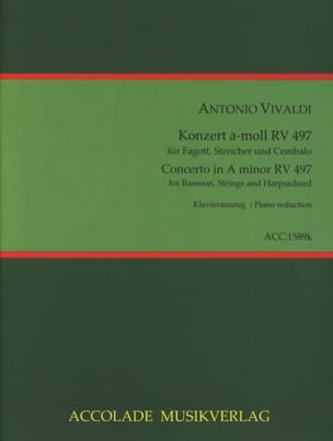 VIVALDI - Konzert a-moll RV 497 - Bassoon and piano - Sheet Music - di-arezzo.com