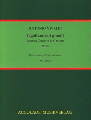 Antonio Vivaldi - Konzert g-moll RV 495 - Basson et piano - Partition - di-arezzo.fr
