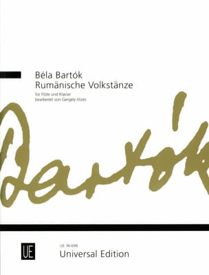 BARTOK - Rumänische Volkstänze - Flute and piano - Sheet Music - di-arezzo.co.uk