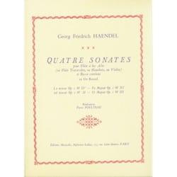 Georg Friedrich Haendel - 4 Sonates – flûte à bec alto - Partition - di-arezzo.fr