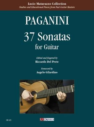 Niccolò Paganini - 37 Sonates - Guitare - Partition - di-arezzo.fr