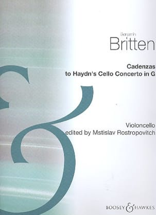 Benjamin Britten - Cadenzas to Haydn's cello concerto in C - Sheet Music - di-arezzo.com