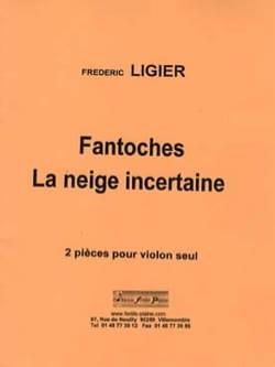 Fantoches - La neige incertaine Frédéric Ligier Partition laflutedepan
