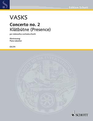 Peteris Vasks - Concerto n° 2 - Violoncelle et piano - Partition - di-arezzo.fr