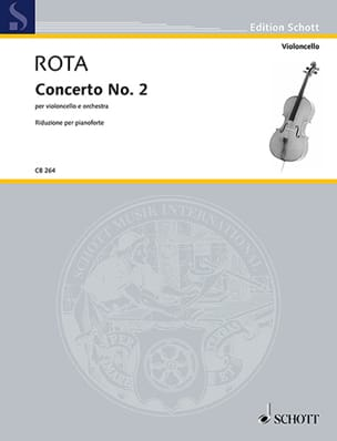 Nino Rota - Concerto n° 2 - Violoncelle et piano - Partition - di-arezzo.fr