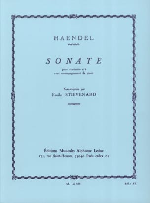 HAENDEL - Sonata - clarinet - Sheet Music - di-arezzo.co.uk