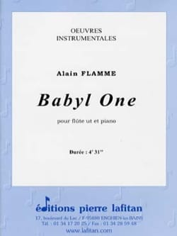Alain Flamme - Babyl One - Partition - di-arezzo.fr