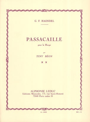 HAENDEL - Passacaille - Harp - Sheet Music - di-arezzo.co.uk