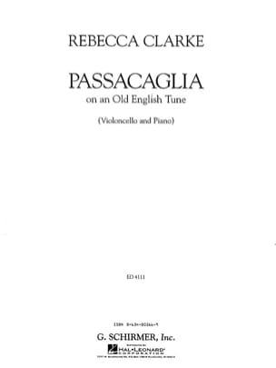 Passacaglia on an Old English Tune Rebecca Clarke laflutedepan