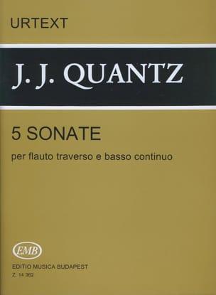 5 Sonates - Flûte et BC - Johann Joachim Quantz - laflutedepan.com