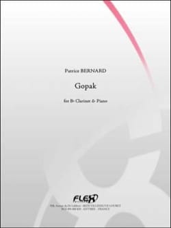 Gopak - Clarinette et piano Patrice Bernard Partition laflutedepan