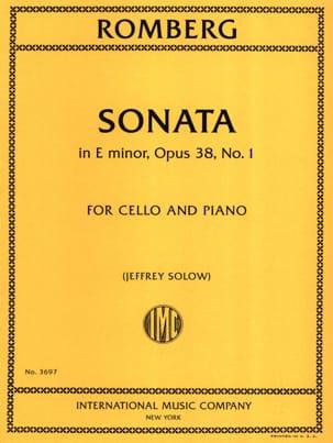 Sonate en mi mineur, op. 38 n° 1 - Cello et piano laflutedepan