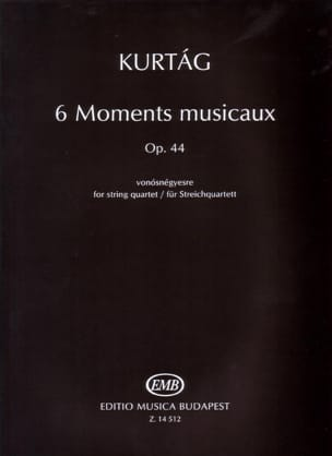 György Kurtag - 6 moments musicaux op. 44 - Partition - di-arezzo.fr
