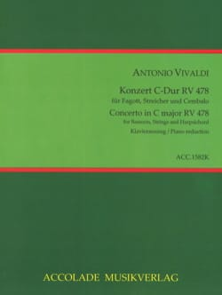 VIVALDI - Bassoon Concerto in C Major F. VIII n ° 3 - Bassoon and Piano - Sheet Music - di-arezzo.com