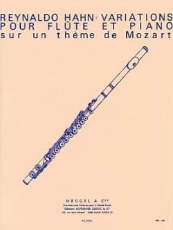 Reynaldo Hahn - Variations pour flûte et piano - Partition - di-arezzo.fr