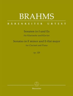 BRAHMS - 2 Sonatas for clarinet and piano, op. 120 - Sheet Music - di-arezzo.co.uk