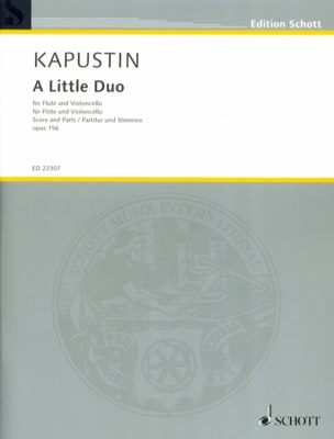 Nikolai Kapustin - A Little Duo, op. 156 - Flute and cello - Sheet Music - di-arezzo.co.uk