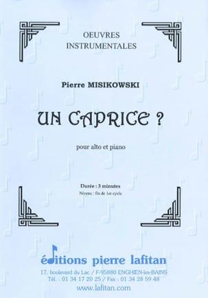 Pierre Misikowski - Un caprice ? - Partition - di-arezzo.fr