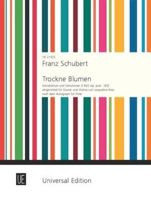 Franz Schubert - Trockne Blumen、D 802 - ヴァイオリンとピアノ - 楽譜 - di-arezzo.jp