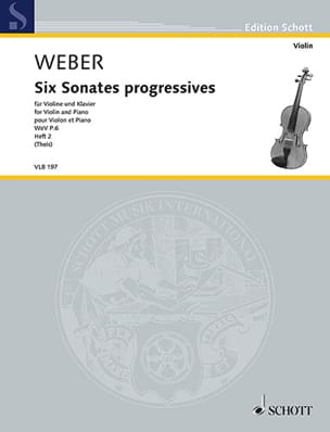 Carl Maria von Weber - 6 Sonates progressives, vol. 2 - Violon et piano - Partition - di-arezzo.fr