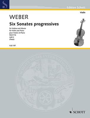 6 Sonates progressives, vol. 2 - Violon et piano laflutedepan