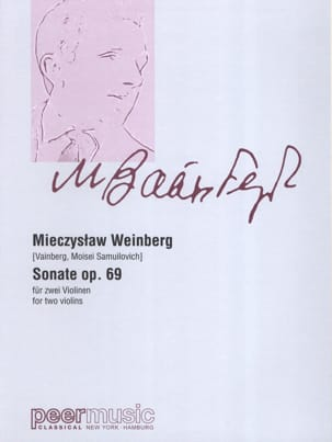Mieczyslaw Weinberg - Sonata for two violins op. 69 - Sheet Music - di-arezzo.com