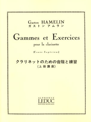 Gammes et exercices - Clarinette Gaston Hamelin Partition laflutedepan