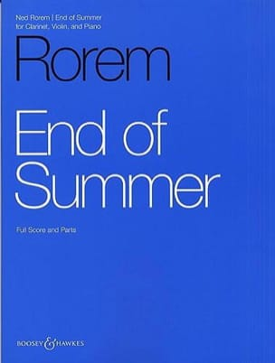 Ned Rorem - End of Summer - Partition - di-arezzo.fr