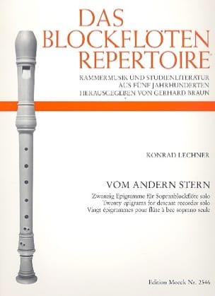 Konrad Lechner - Vom Andern Stern - Solo Soprano Recorder - Sheet Music - di-arezzo.com