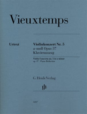 Henri Vieuxtemps - Violin Concerto No. 5, op. 37 - Violin and piano - Sheet Music - di-arezzo.co.uk