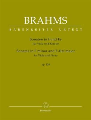 BRAHMS - Sonatas op。 120 - ヴィオラとピアノ - 楽譜 - di-arezzo.jp